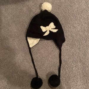 DONT BUY- kate spade wool bow knitted beanie / hat